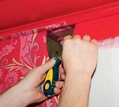 избавляемся от воздуха при поклейке фрески на флизелине