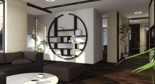 гостиная 16 кв. метров в японском стиле