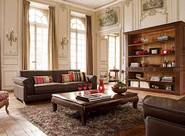 гостиная 16 кв. метров в классическом стиле