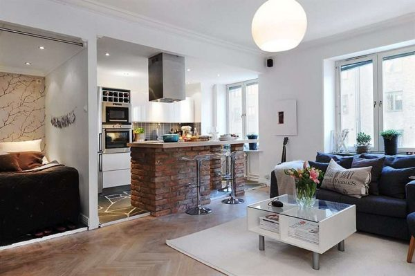 кухня-гостиная 16 кв. метров