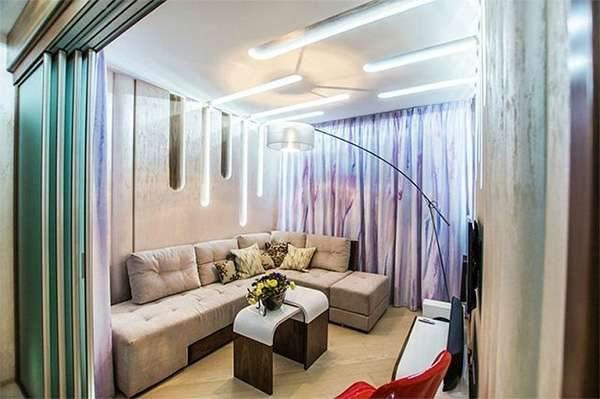 освещение в гостиной 16 кв. метров