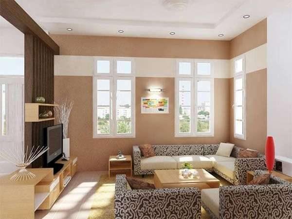 мягкая мебель в гостиной 16 кв. метров
