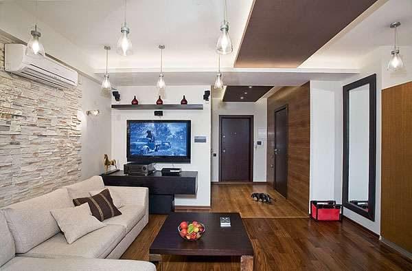 гостиная 16 кв. метров в стиле модерн