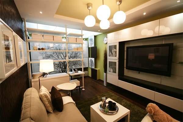 современный интерьер гостиной 16 кв. метров