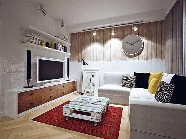 декор в гостиной 16 кв. метров