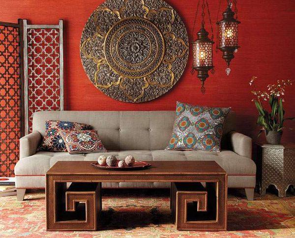 гостиная 16 кв. метров в марокканском стиле