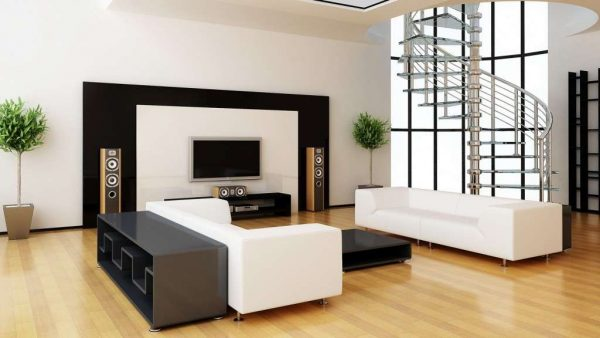минимализм в интерьере гостиной 20 квадратных метров