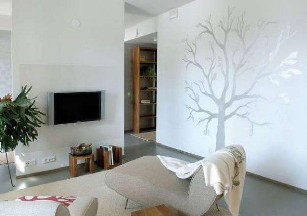 декор стены в гостиной 20 квадратных метров
