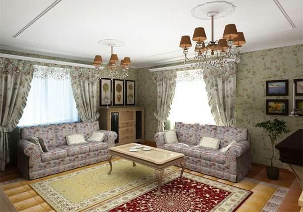 классический стиль в интерьере гостиной 20 кв. метров