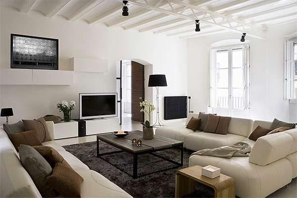 угловые диваны в интерьере гостиной 20 кв. метров
