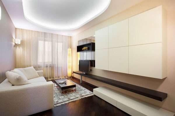 свежий интерьер гостиной 20 квадратных метров