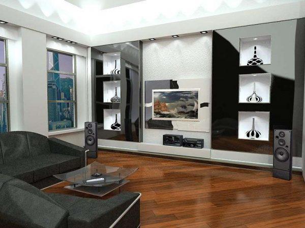 модульная мебель в интерьере гостиной