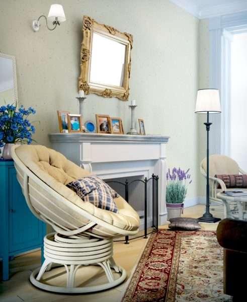 средиземноморский декор в интерьере гостиной в стиле прованс