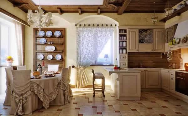 текстиль в гостиной в стиле прованс
