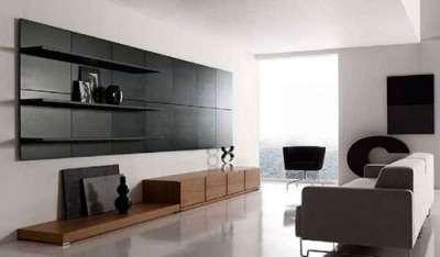декор в гостиной в стиле минимализм
