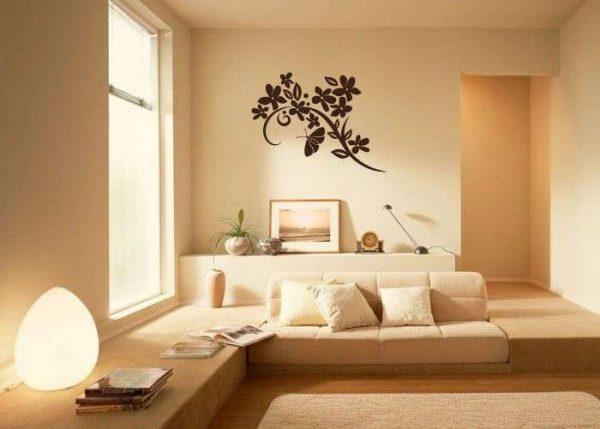 настенный декор в гостиной в стиле минимализм