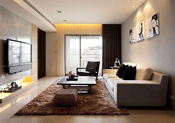 картины в интерьере гостиной в стиле модерн