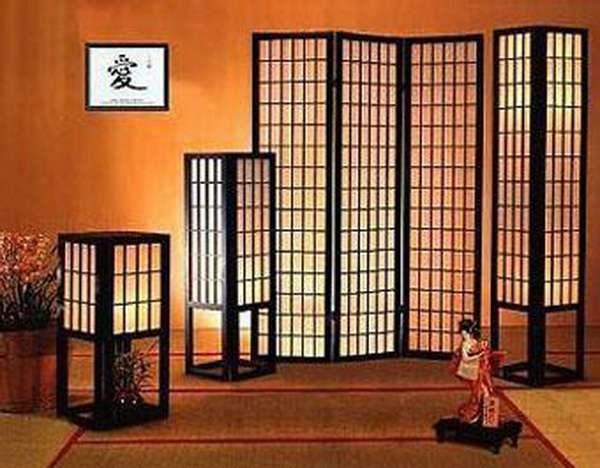 Декор гостиной в японском стиле