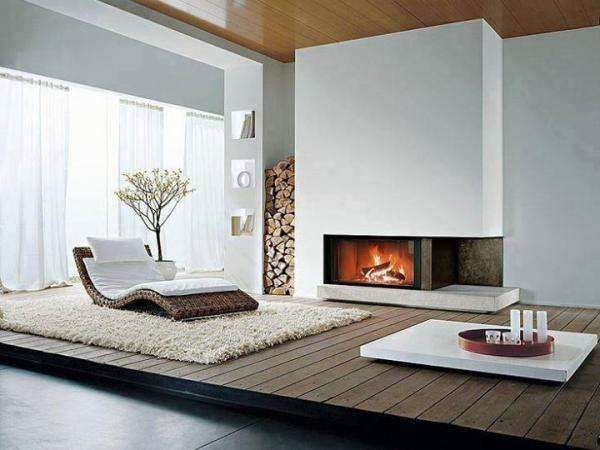минимализм в гостиной частного дома