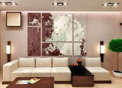 настенный декор в интерьере гостиной 18 кв м в хрущёвке