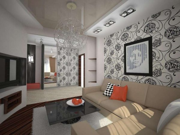 Интерьер гостиной 18 кв м в хрущёвке с коридором