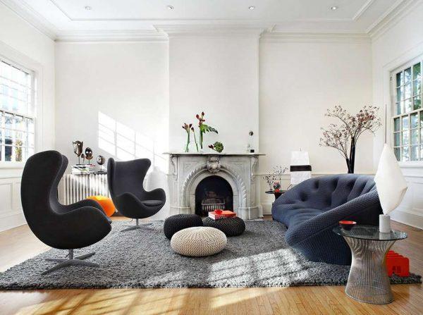 Фото фальш-каминов в интерьере гостиной