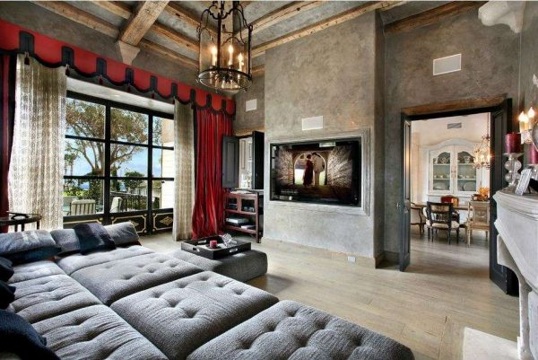 готика в интерьере гостиной в классическом стиле