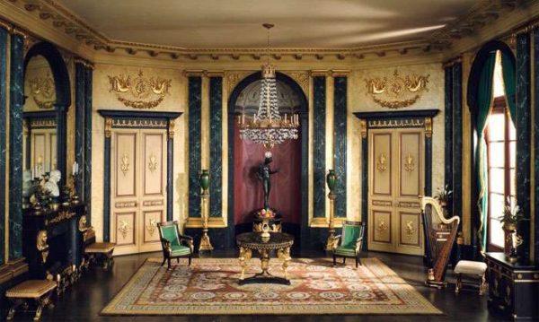 ампир в интерьере гостиной в классическом стиле