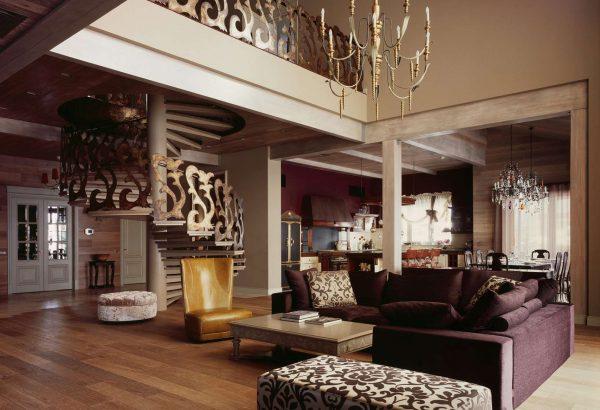 мебель в интерьер гостиной фьюжн