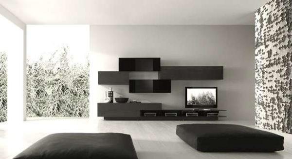 мебель в гостиной в стиле минимализм