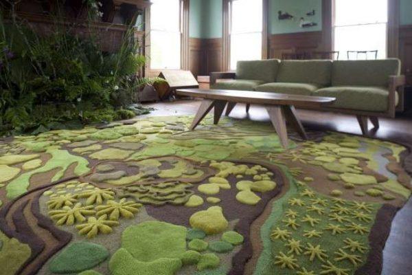 роскошный ковёр в гостиной