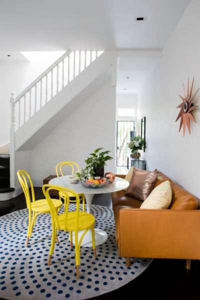 круглый коврик в гостиной
