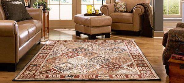 ковёр шёлковый в интерьере гостиной