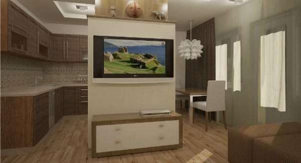 декоративная перегородка в интерьере кухни гостиной 15 кв.м
