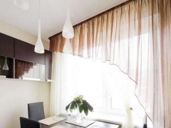 шторы на кухне гостиной