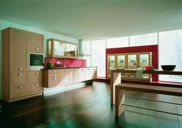 Просторная кухня гостиная