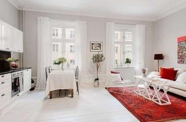скандинавский стиль в интерьере кухни гостиной 30 кв. метров