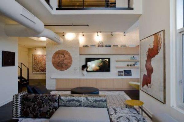 модульная мебель для гостиной в светлых тонах