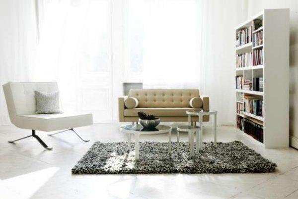 белая модульная мебель для гостиной