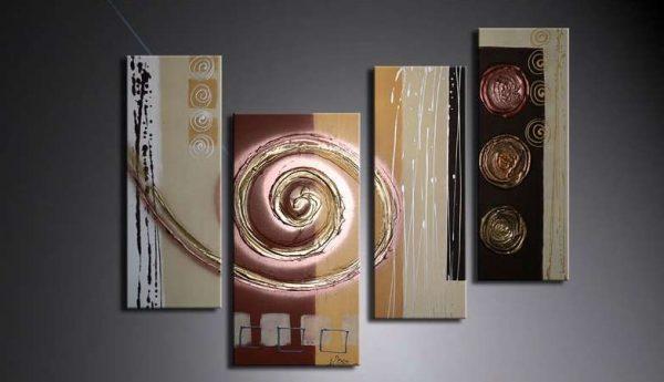 модульная картина, нарисованная масляными красками