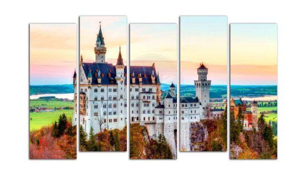 модульная картинка с изображением замка в Германии