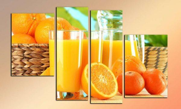 модульная картина с апельсиновым соком