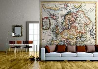 одна большая картина в интерьер гостиной над диваном