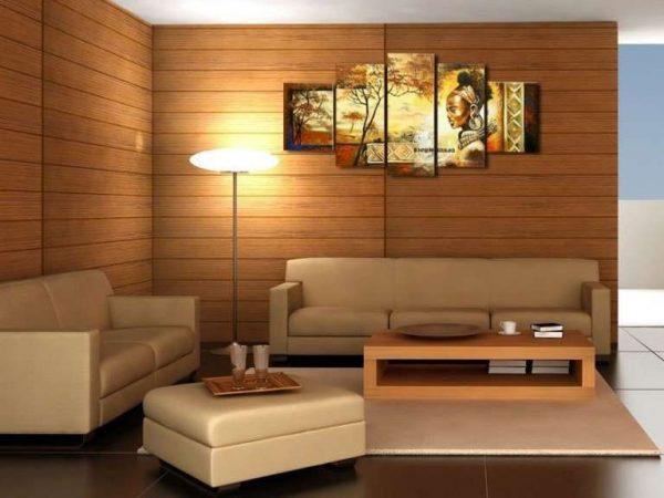 модульная картина в интерьере гостиной неоклассицизм
