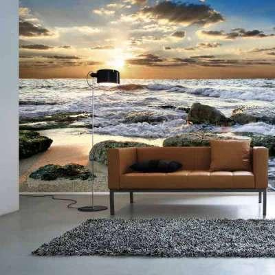 фотообои с изображением моря в гостиной