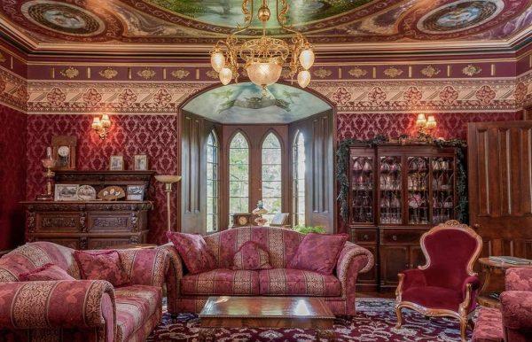 обои для гостиной в стиле рококо