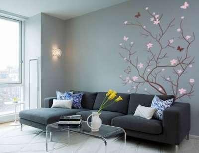 стильный декор стен в гостиной