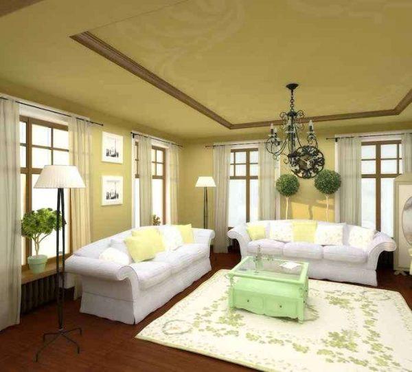 классический стиль в гостиной с ремонтом эконом класса