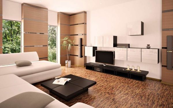стильное оформление гостиной с ремонтом эконом класса