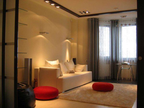 интерьер гостиной после ремонта в восточном стиле